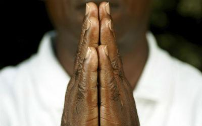 prayer black hands