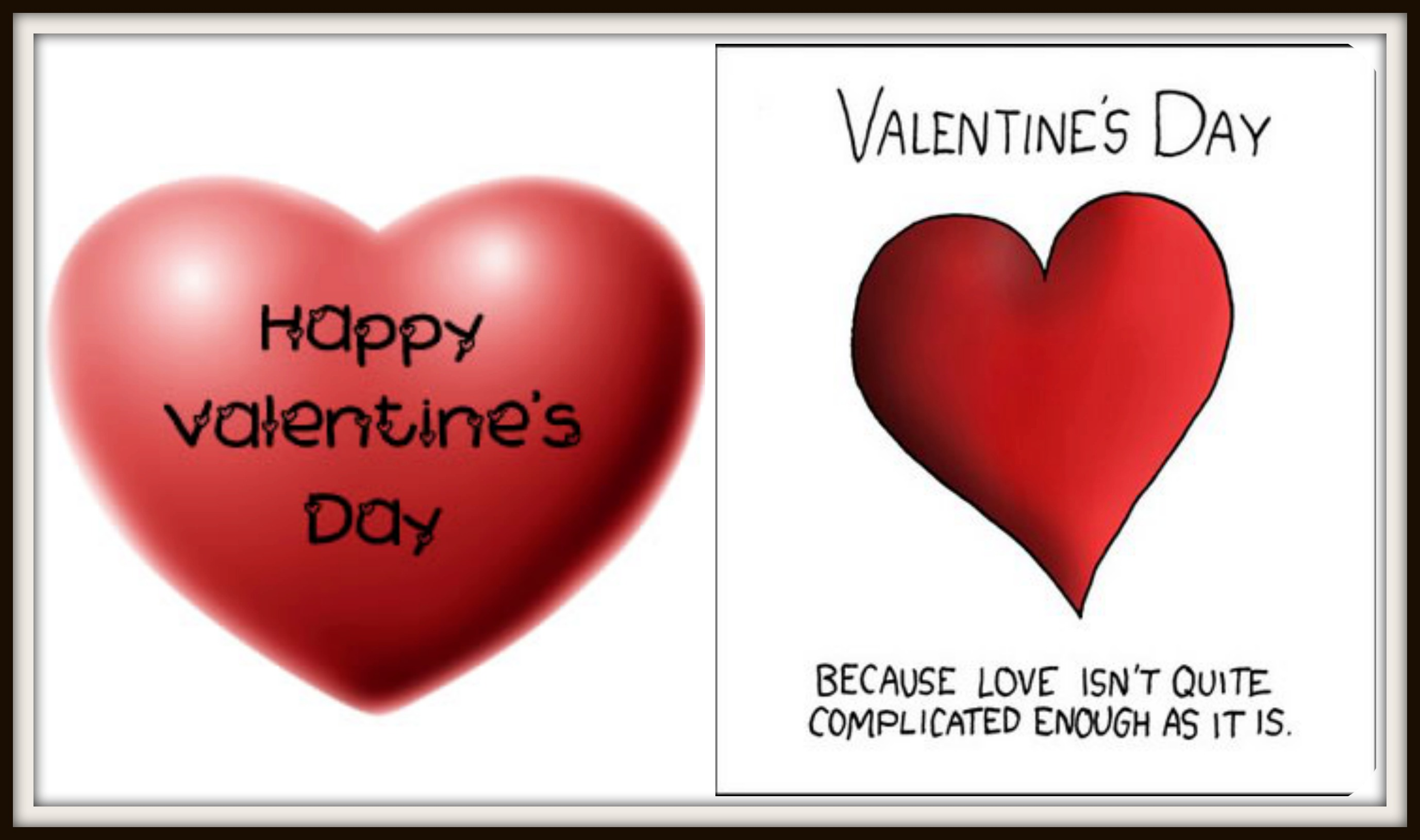 V day Collage with border